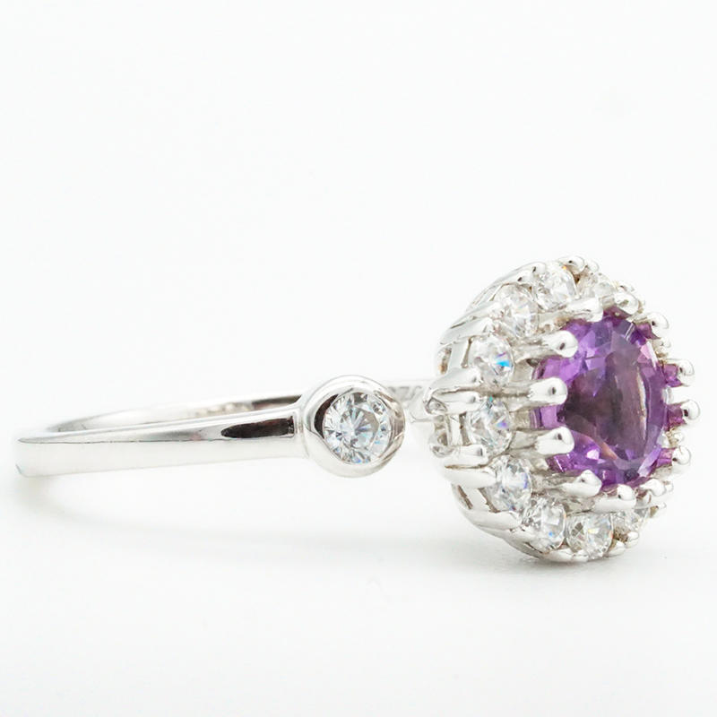 product-Elegant women natural amethyst 925 sterling silver rings wedding and engagement rings-BEYALY-1