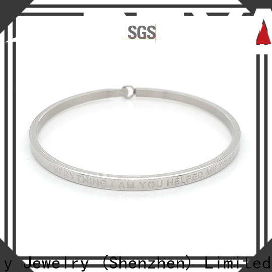 Latest jewelry bangles bracelets zirconia company for business gift