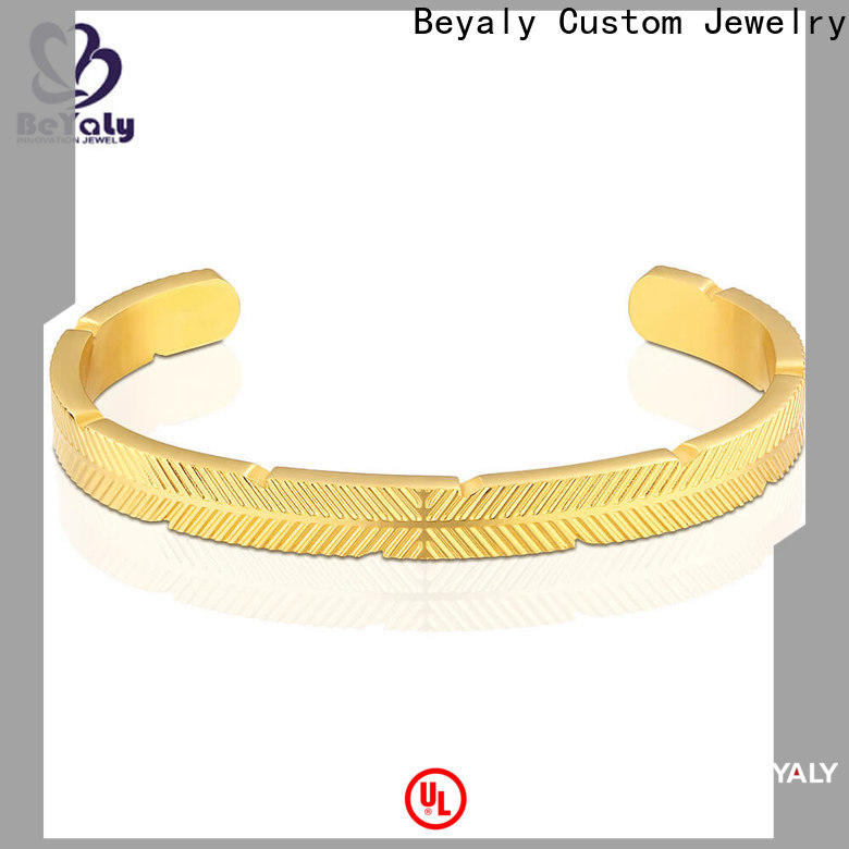 BEYALY screw thin bangles with charms for business for anniversary celebration