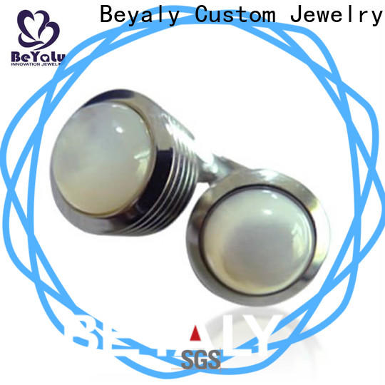 BEYALY brass mens red cufflinks Suppliers for party