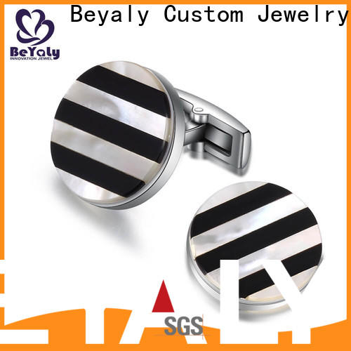 BEYALY Custom cufflinks with names on them Suppliers for ceremony for advertising promotion