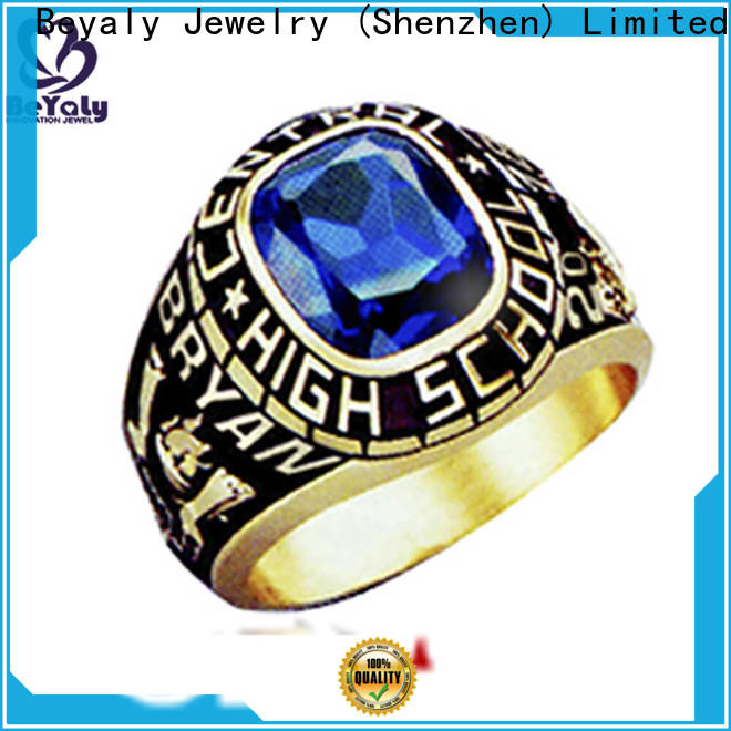 BEYALY gold customize your class ring company for university students