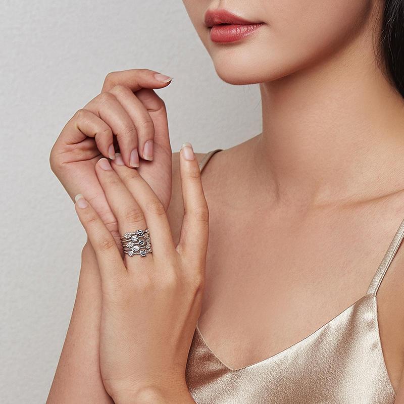 product-Fashion women engagement jewelry silver multi layer Ring-BEYALY-img-1