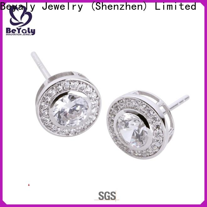BEYALY circle diamond earrings manufacturers for business gift