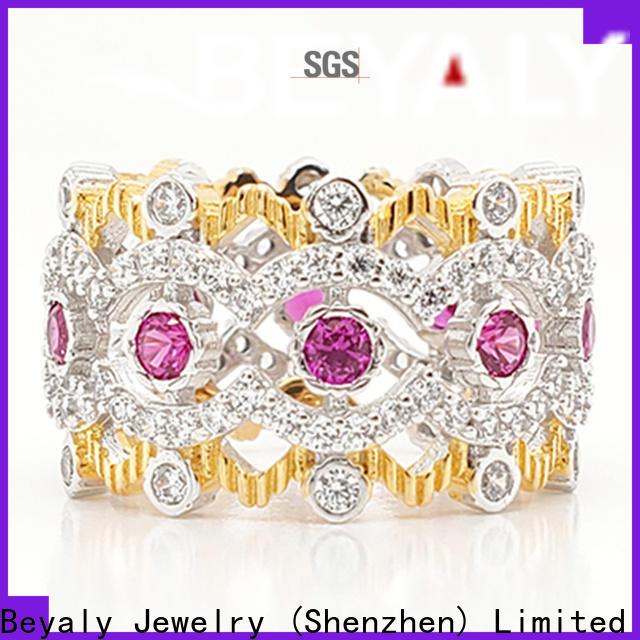 BEYALY white gold princess tiara ring manufacturer for wedding
