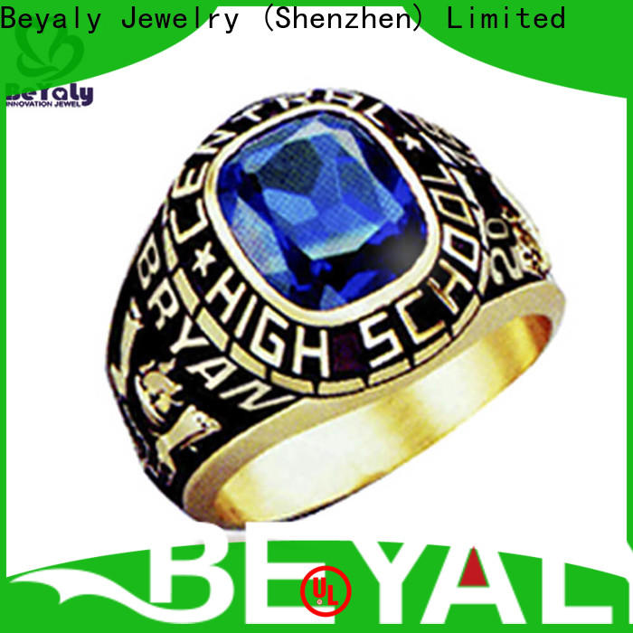 BEYALY black sheer ice class ring for graduated