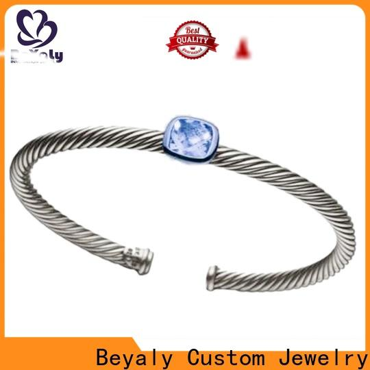 High-quality solid silver bangles and bracelets magnet Supply for anniversary celebration