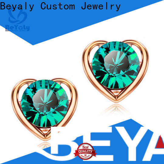 BEYALY special white gold and diamond stud earrings Supply for exhibition