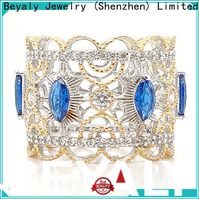BEYALY Custom king and queen crown promise rings wholesale for wedding