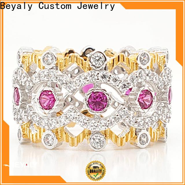 BEYALY pretty crown rings oem for wedding