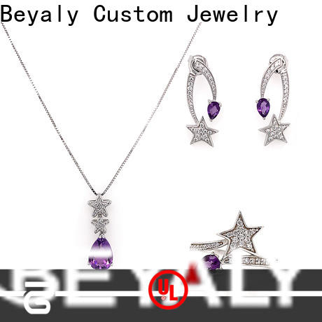 Custom real jewelry sets factory for advertising promotion