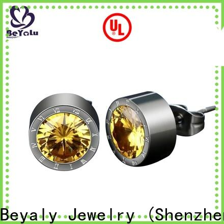 BEYALY fashion silver earrings for ladies factory for anniversary celebration