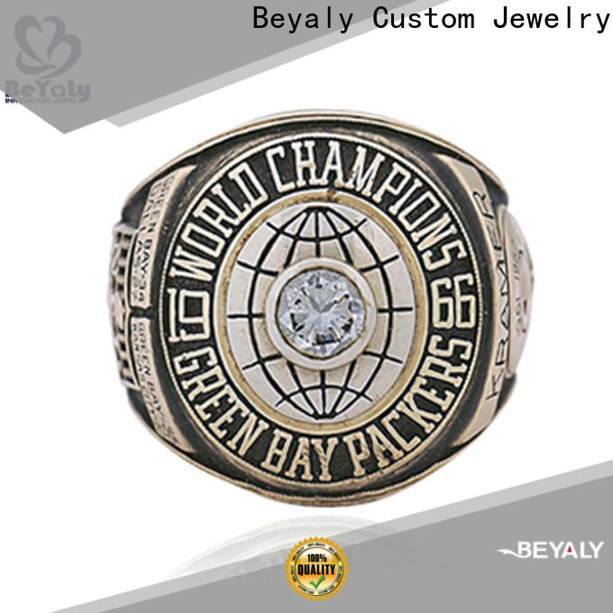 BEYALY 2001 semi pro football championship rings Suppliers for word champions