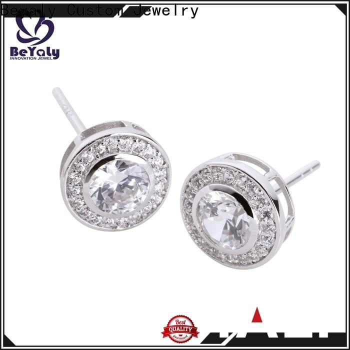 BEYALY small silver circle stud earrings company for business gift