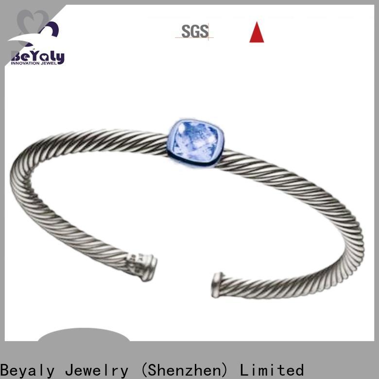 BEYALY zirconia large gold bangle bracelet Supply for business gift