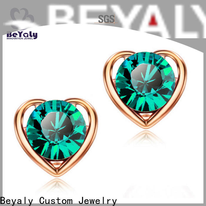 BEYALY classic circle stud earrings for business for exhibition