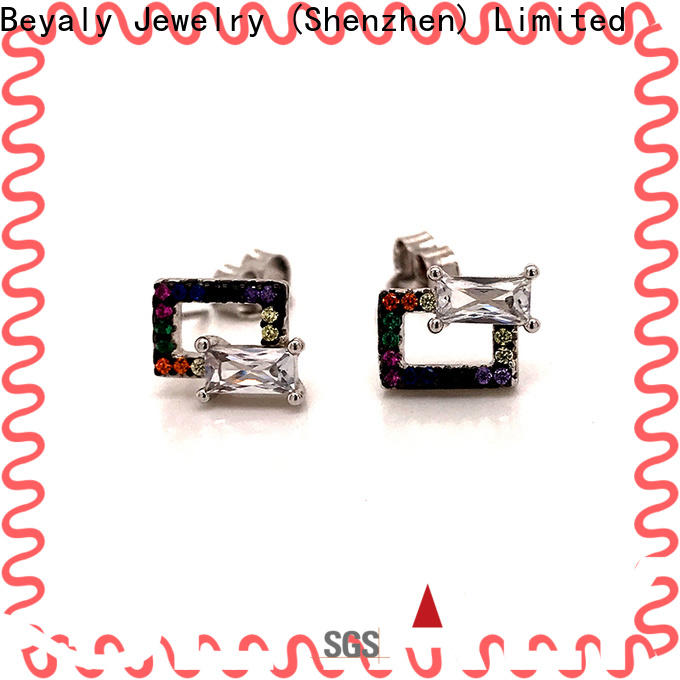 BEYALY unique white gold diamond earrings prices company for exhibition