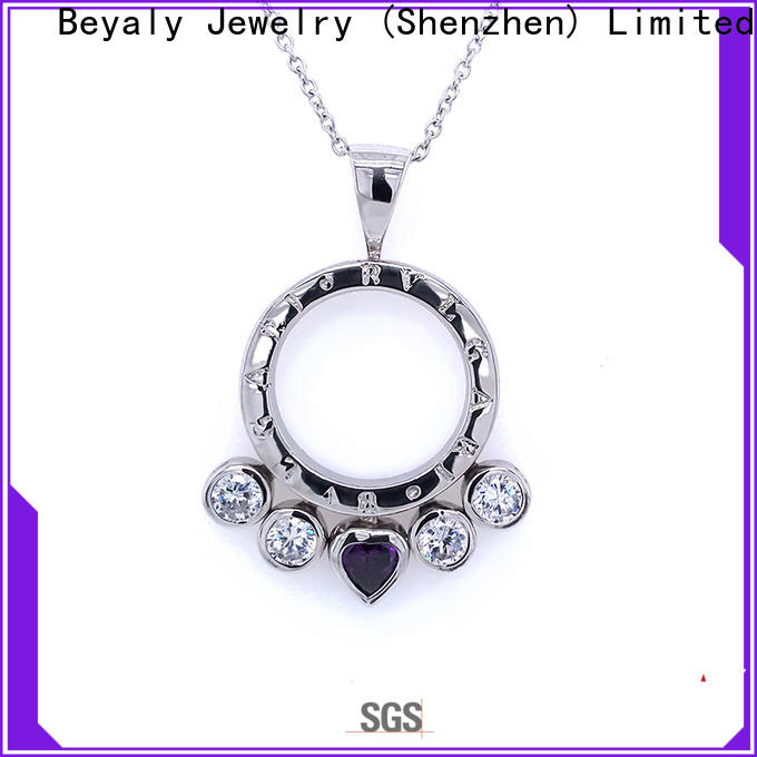 Best sterling silver clover pendant lovely factory for wife