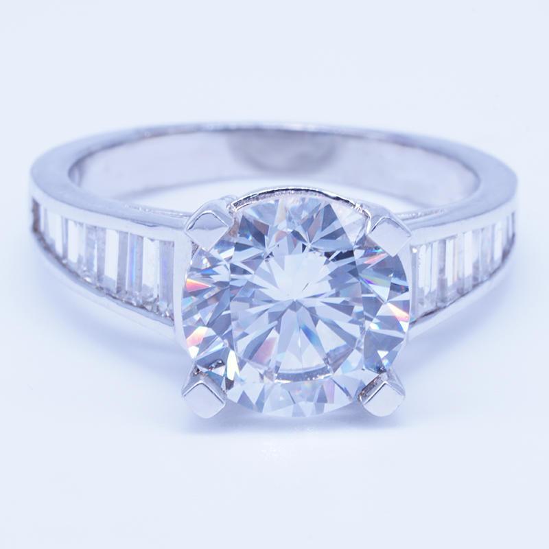 wholesale fashion charming 925 silver diamond rings