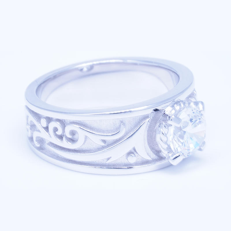 product-Customized 925 sterling silver brilliant cut zircon engagement rings for men-BEYALY-img-1
