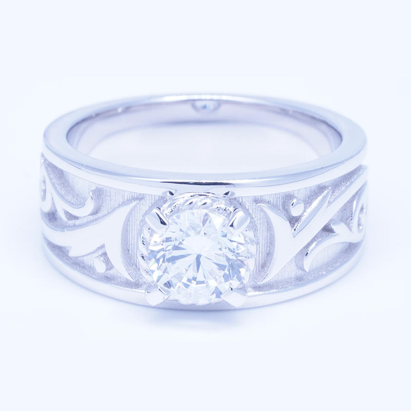 product-BEYALY-Customized 925 sterling silver brilliant cut zircon engagement rings for men-img