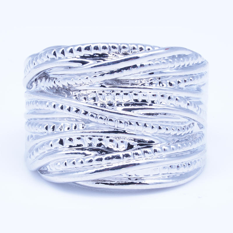 Beyaly Jewelry | Multi-layer ring white gold plated silver ring