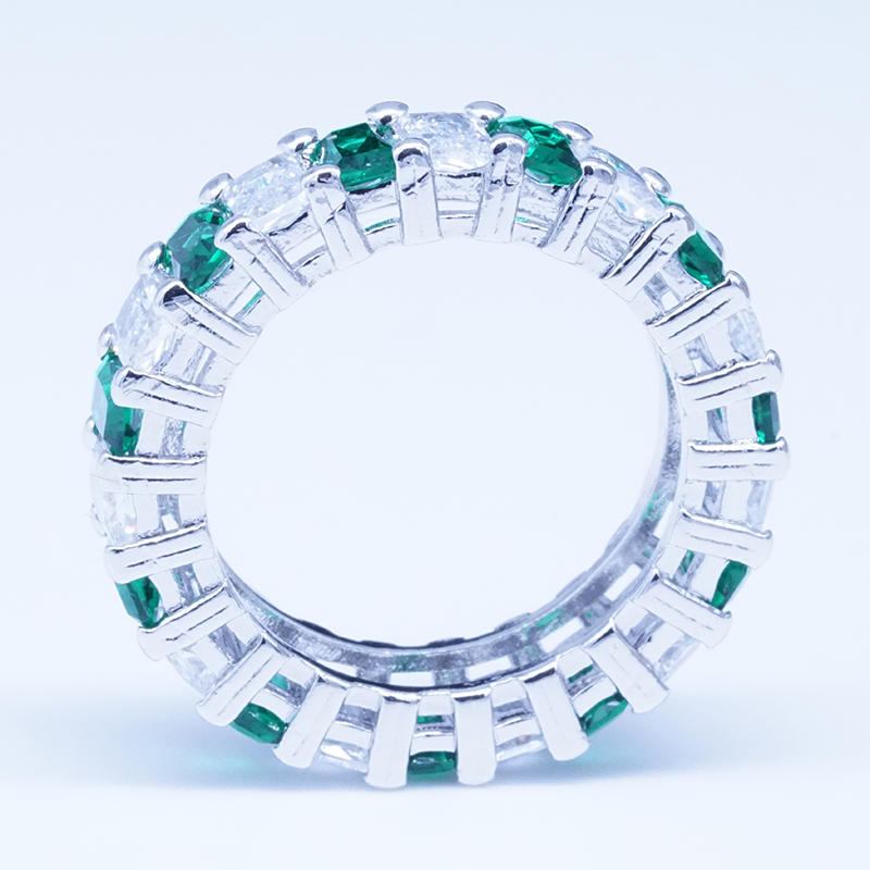product-BEYALY-Cheapest custom promotional Emerald cut white zircon 925 sterling silver plated coppe