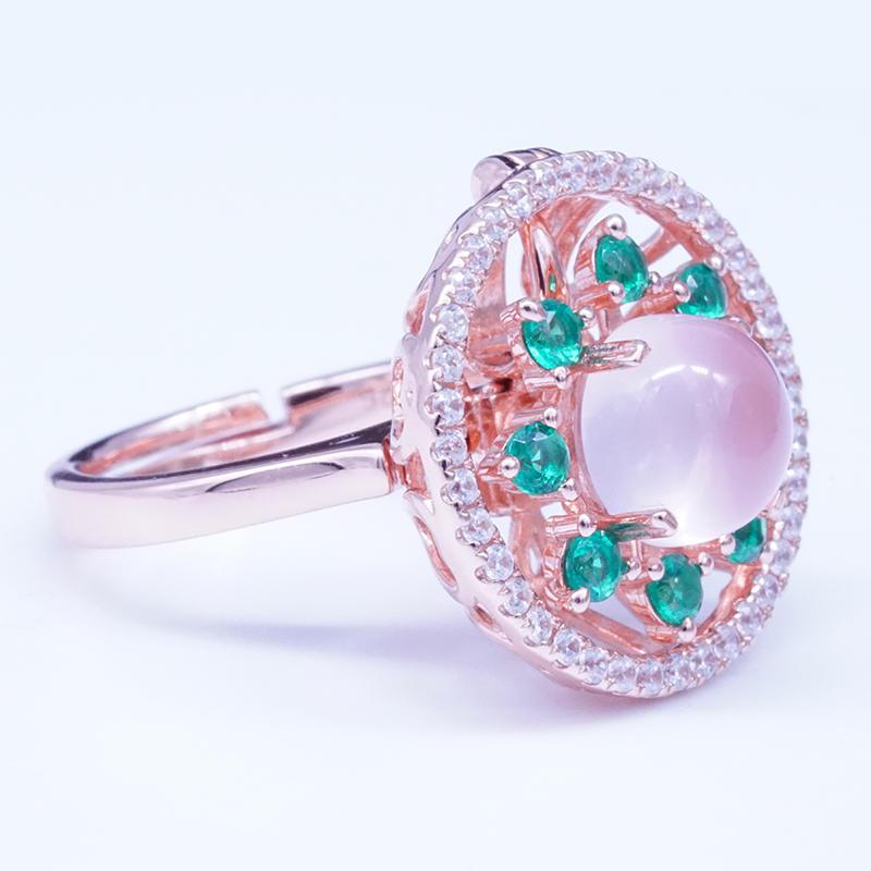 product-BEYALY-Custom made rose gold plating ring pendant-img