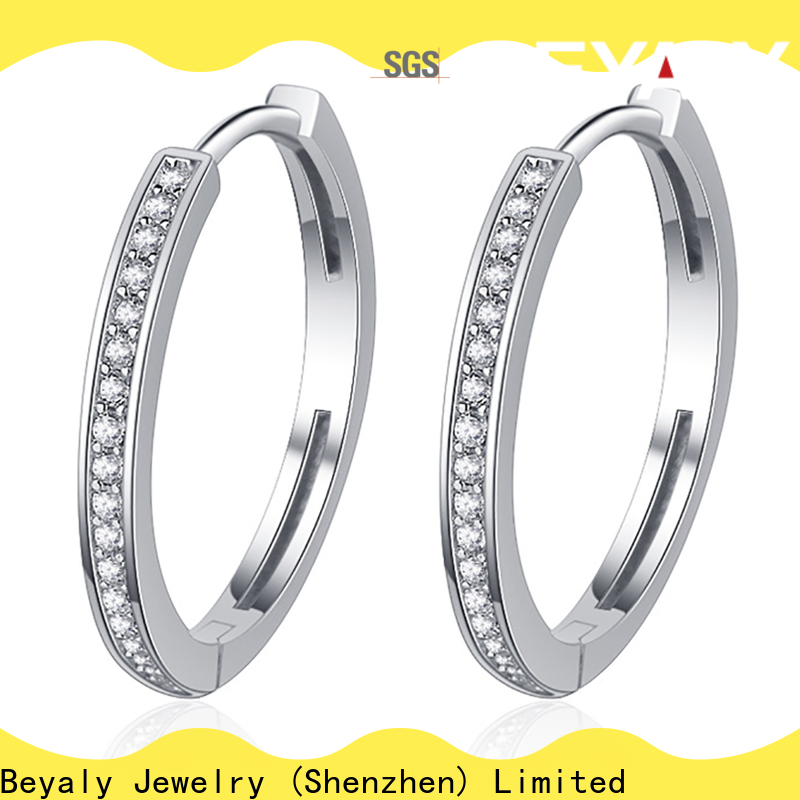 BEYALY 925 sterling silver large hoop earrings shipped to business for women