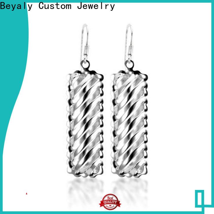 BEYALY silver cz earrings factory for women