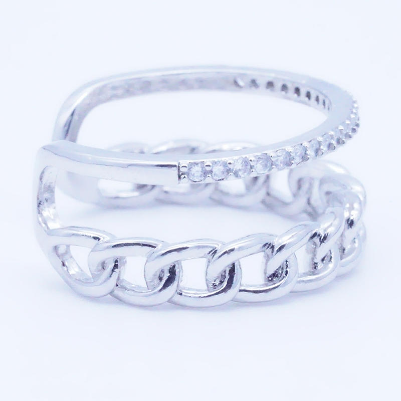 product-BEYALY-Nice design double layer Rose Gold Color Copper open Rings Jewelry Manufacturer-img