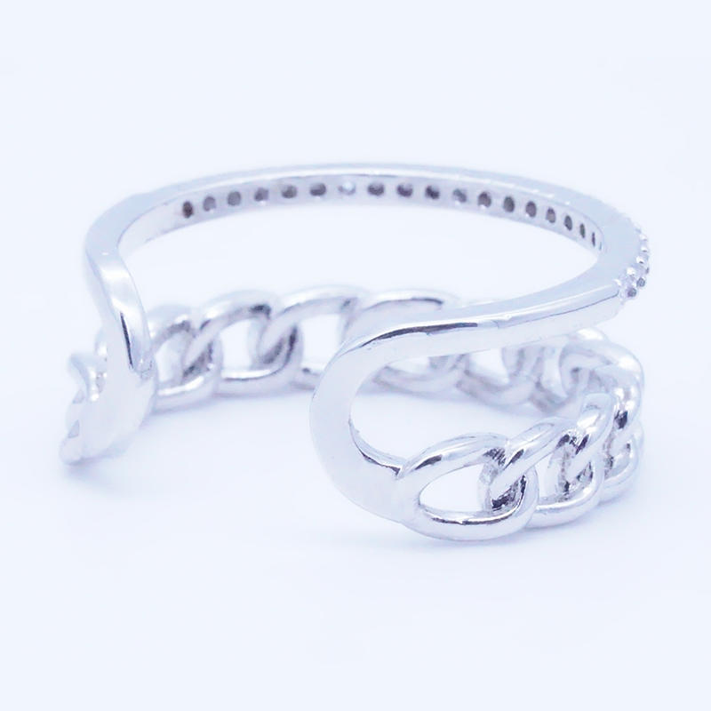 product-Nice design double layer Rose Gold Color Copper open Rings Jewelry Manufacturer-BEYALY-img-1