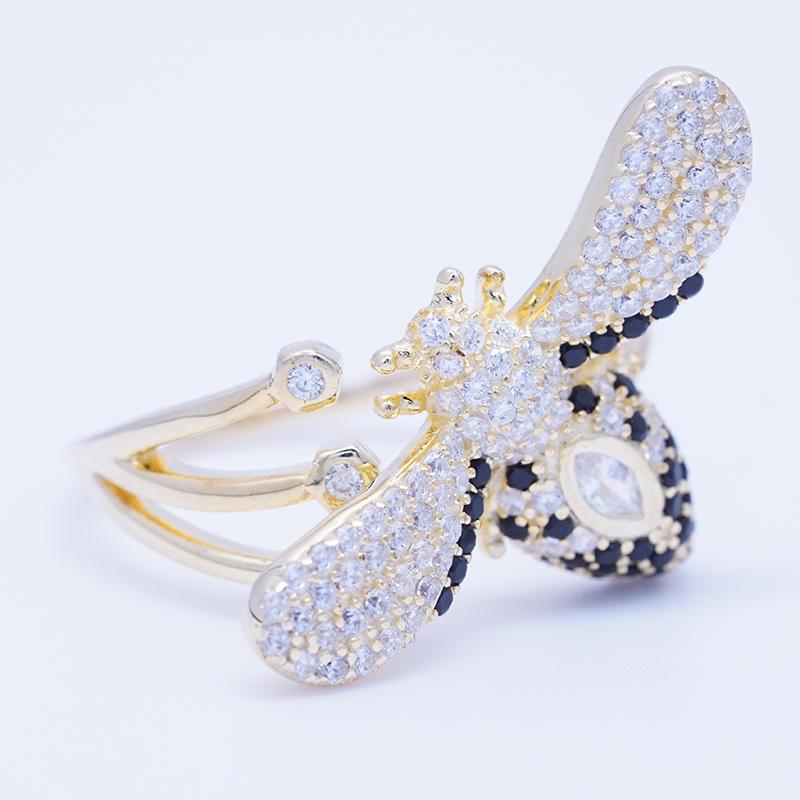 product-BEYALY-Latest Design Fun Animal Bee Shape Silver ring jewelry lady jewelry-img