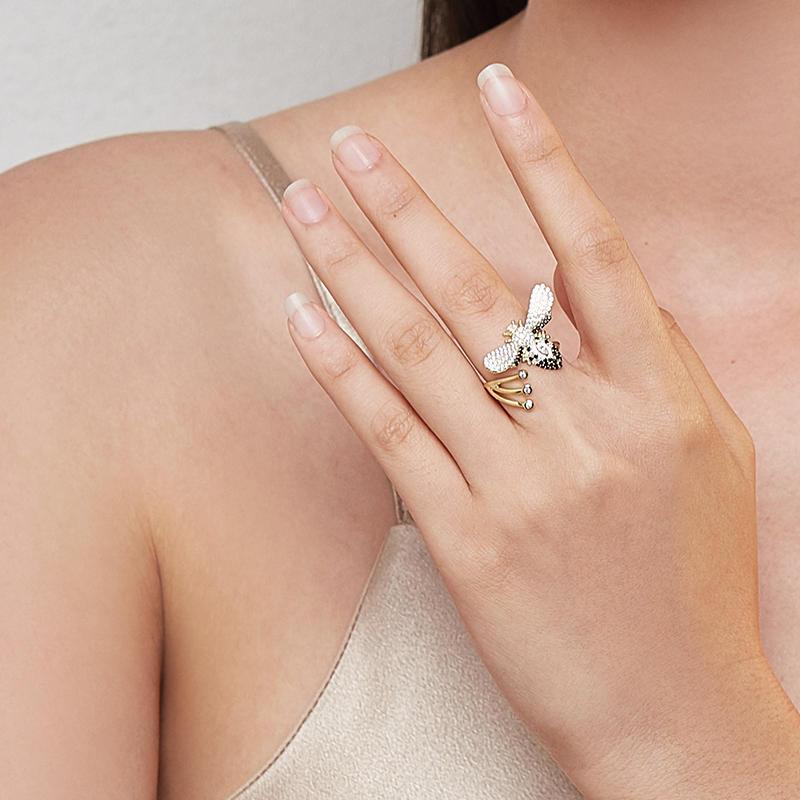 product-Latest Design Fun Animal Bee Shape Silver ring jewelry lady jewelry-BEYALY-img-1