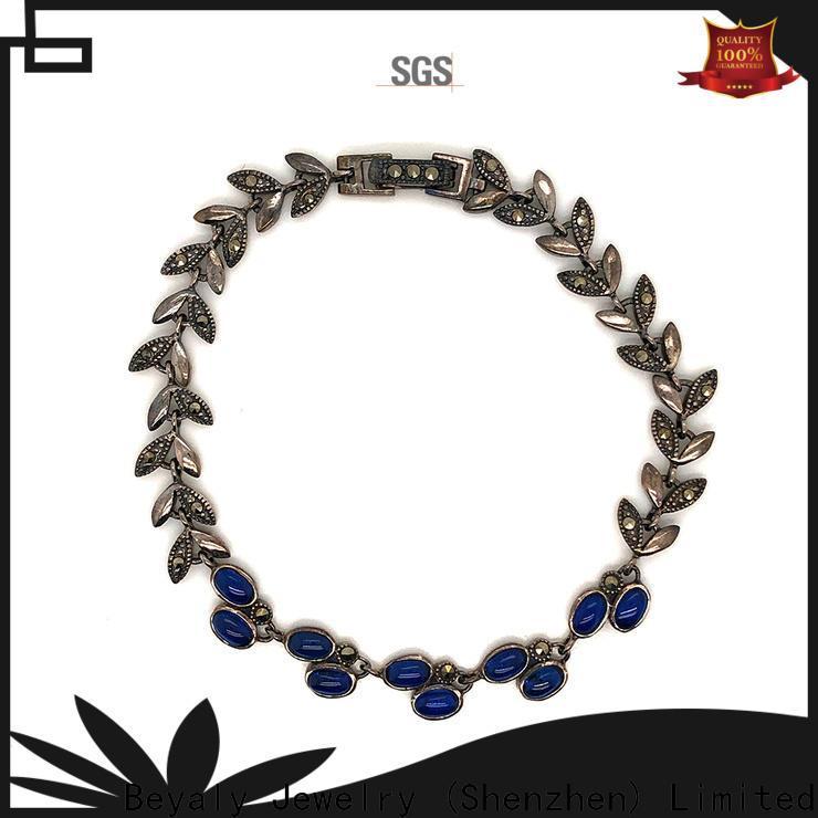 BEYALY Custom aquamarine earrings shipped to business for women