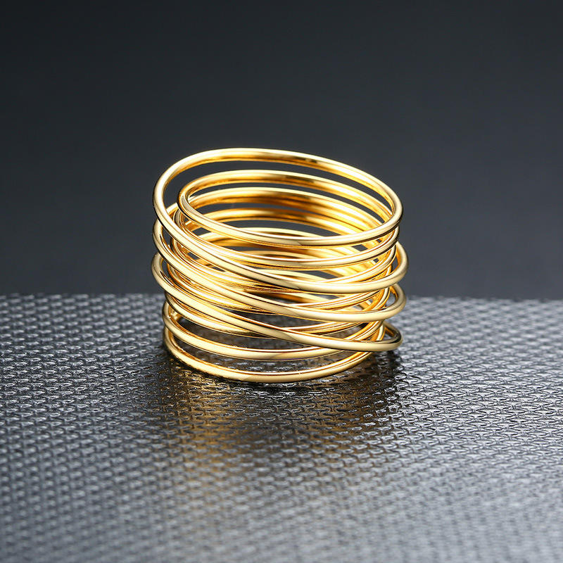 product-BEYALY-Christmas gift custom jewelry wholesale stainless steel multi layers finger ring-img
