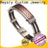 BEYALY men's stainless steel band rings shipped to business for men