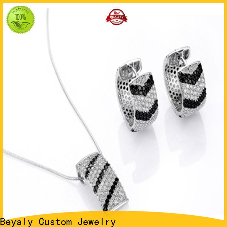 BEYALY Wholesale white gold engagement ring set company for women