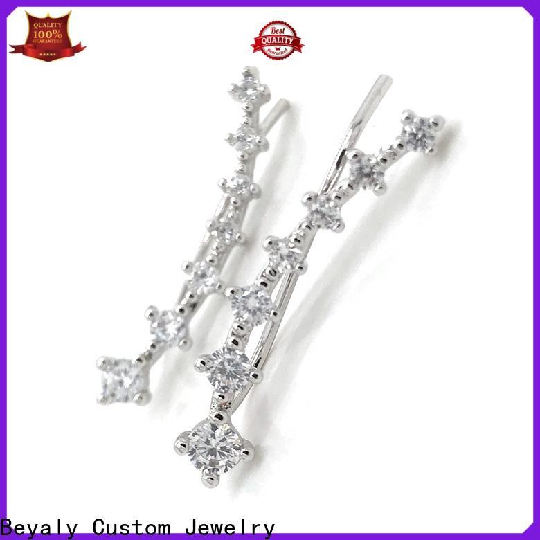 BEYALY 925 earrings silver factory for men