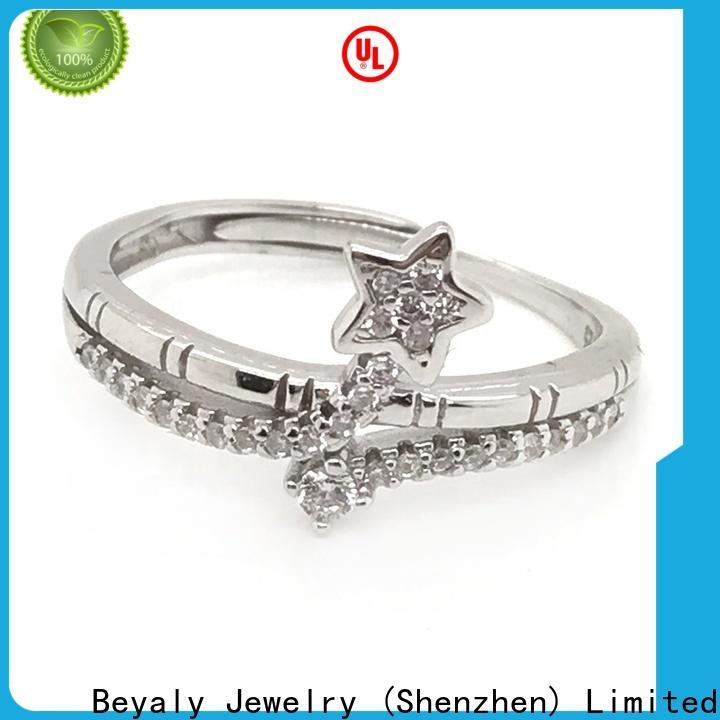 BEYALY Top custom wedding rings azeera bulk buy for party