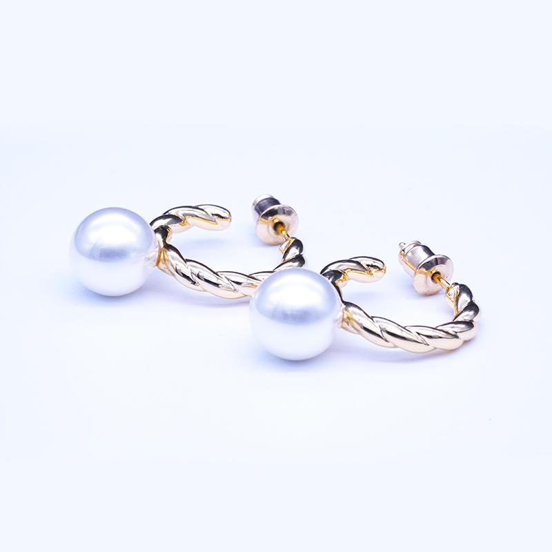 product-BEYALY-925 Sterling Silver twist design Women Elegant Infinite Gift Jewelry Natural Pearl Ea