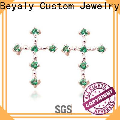 BEYALY cubic zirconia drop earrings wedding company for men