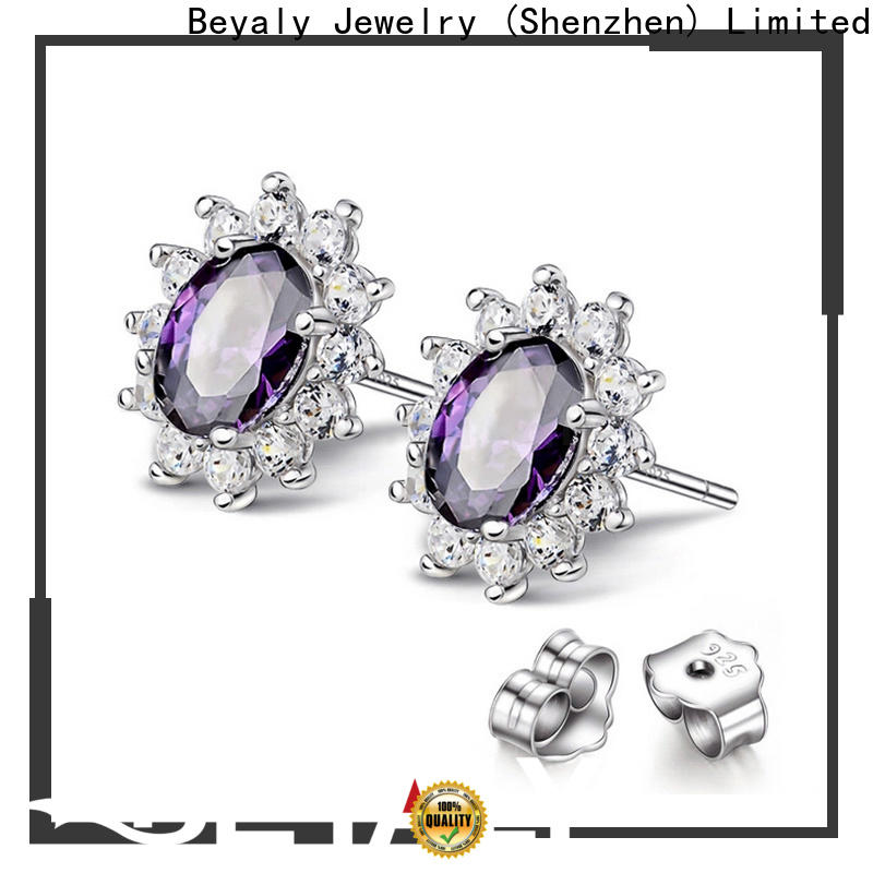 BEYALY Best cz earrings online shipped to business for party