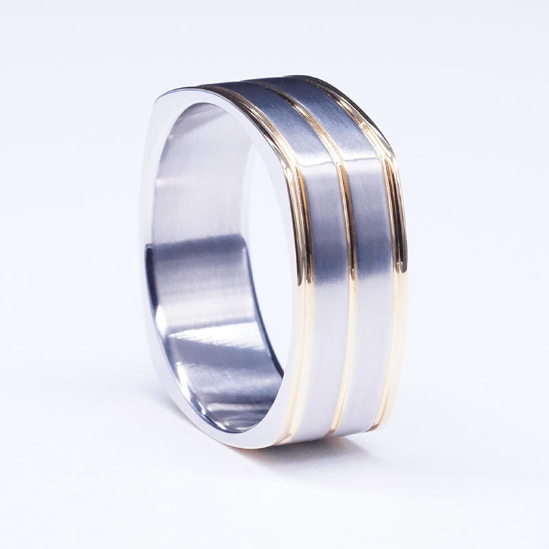 Blank titanium steel ring stainless steel jewelry ring