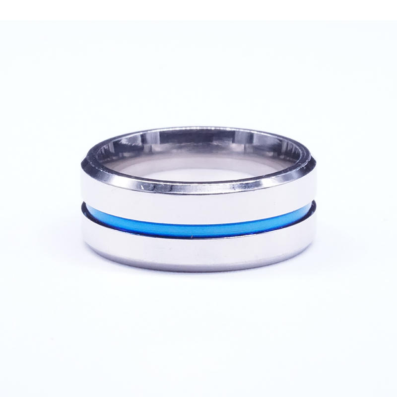 product-BEYALY-wholesale new arrived stainless steel blue ribbon ring design your own stainless stee