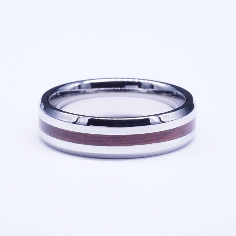 product-BEYALY-Rose Wood Tungsten Ring Personality vintage Dome Black Acacia for men-img