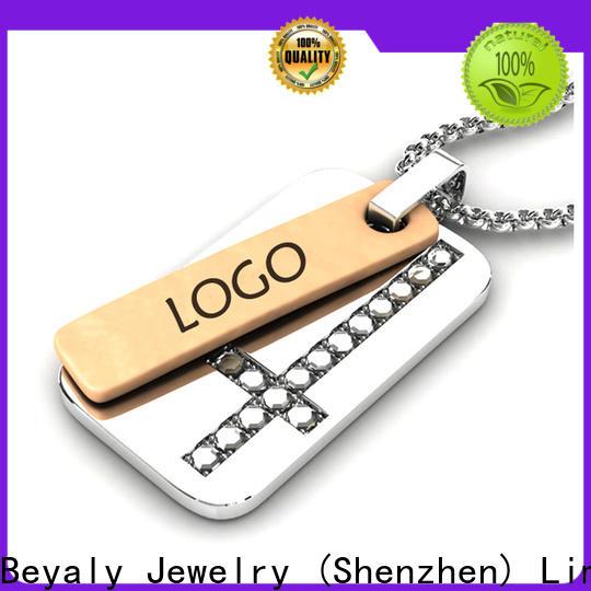 Custom black stainless steel pendant company for business gift