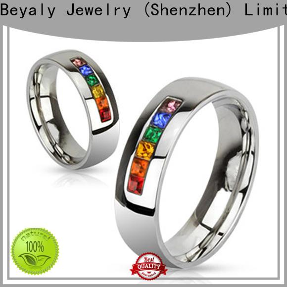 BEYALY Latest polished titanium wedding bands bulk buy for decoration