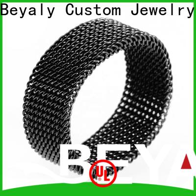 BEYALY matt titanium wedding ring shipped to business for women