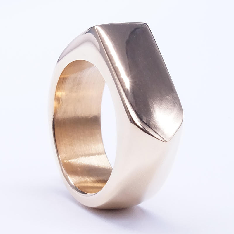Simple Fashion Plain Stainless Steel Band Ring Men Stylish Arrow Ring